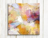 Soft colors Abstract art print on canvas