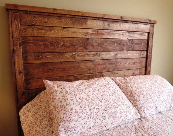 items similar to rustic distressed wood queen headboard made to order custom built reclaimed. Black Bedroom Furniture Sets. Home Design Ideas
