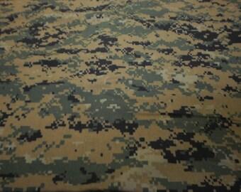 1 yard woodlands digital camo, or acu, marpat, bdu, nwu,military uniform fabric, purse, dress, pillow, apron,