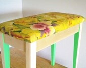 Piano Bench: Botanical and Neon