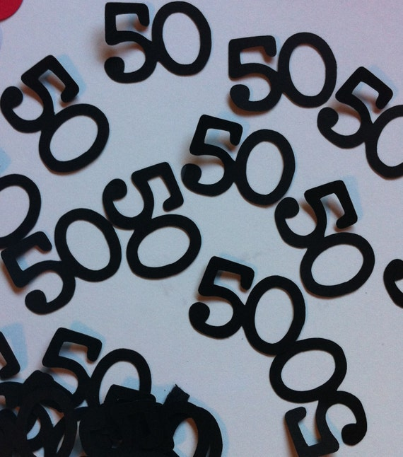 50th birthday decorations table confetti for Table decoration 50th birthday