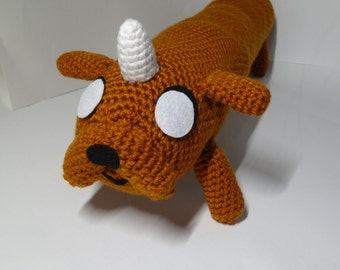 Amigurumi Adventure Time inspired Jake and Lady Rainicorn's puppy Kim Kil Whan
