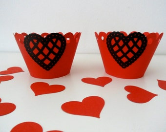 HEART cupcake wrapper