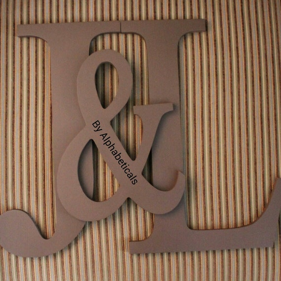 Decorative Wall Letters Large Wooden Monogram by Alphabeticals