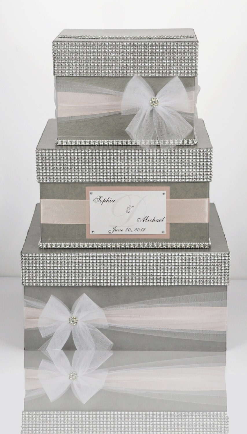Card box / Wedding Box / Wedding money box 3 tier