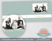 Wide Chevron Masculine digital CD and CD cases templates (single and double)