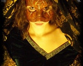 Tree of Life leather masquerade pagan mask