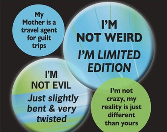 Funny Ha Ha  -  1 inch circle/25mm Bottle Cap Images - Digital Collage Sheet - INSTANT DOWNLOAD