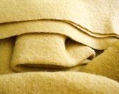 100% Wool Felted Blanket Fabric, Wool blanket,vintage blanket