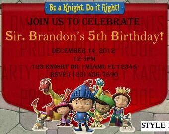 Mike the Knight Birthday Invitation