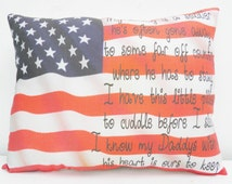 Soldier Daddy Military Kids Childrens Pillow Deployment  Gift