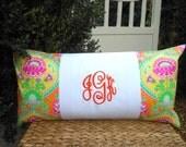 Monogram Pillow - Dorm Bedding - College Bedding