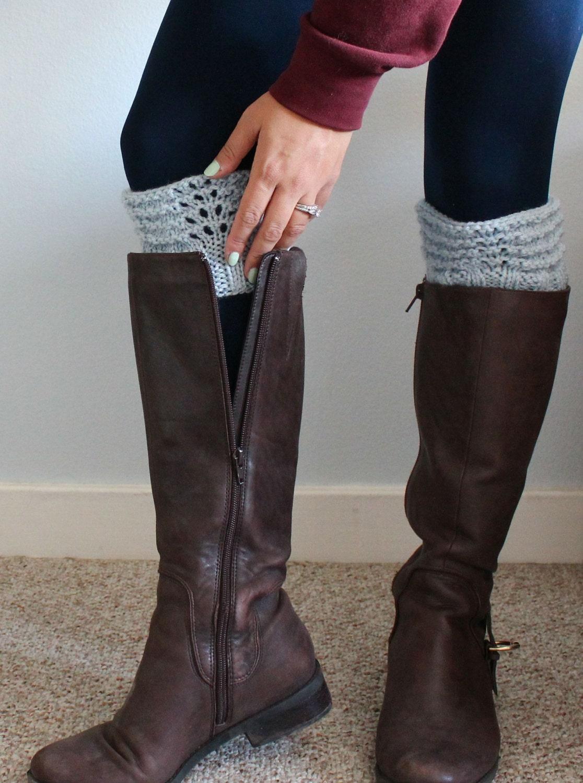 Boot Cuff Boot Topper Knit Leg Warmer Rain Boot Liner In