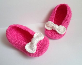 BABY PINK SHOES, Baby Crochet Shoes, Baby Girl Gift