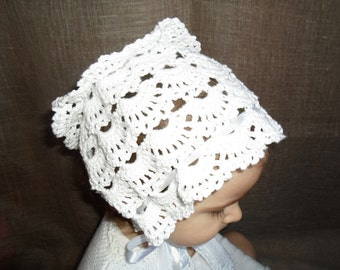 BABY CROCHET BONNET, Baby girl bonnet, Baby girl gift, Made To Order