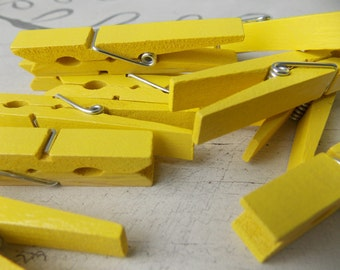 Yellow Sunshine Clothespins
