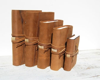 Custom Order Leather Journal Set Handmade Bound Western Adventure Collection (187)