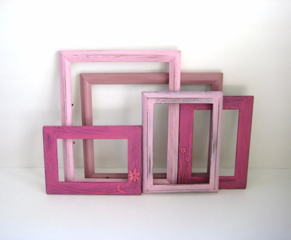 Pink Picture Frames - Gallery of 5 - Pretty