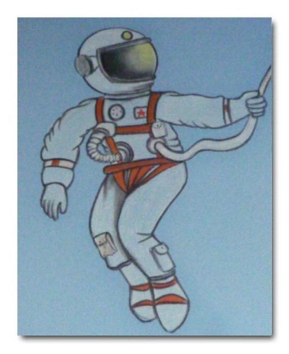 Astronaut Decor Kids Wall Art Boys Room Decor by handpainting