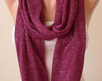 Plum Purple Infinity Scarf - Jersey Fabric
