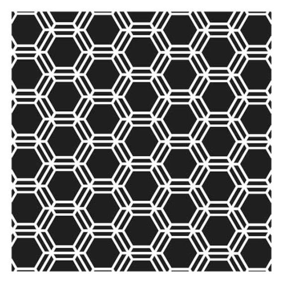 Ronda Palazzari Mini Honeycomb 6x6 Stencil