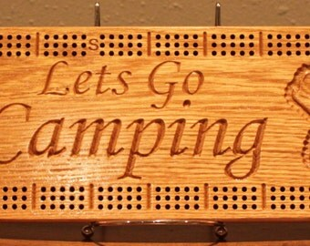 Camping Cribbage Board Made From Solid Oak