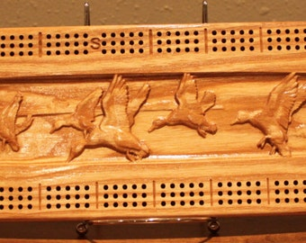Outdoor Duck Scene Made From Solid White Ash