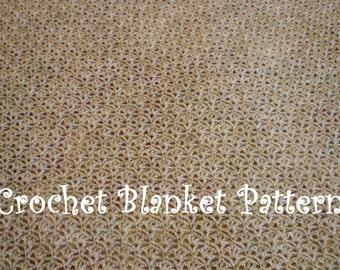 Crochet Baby Blanket Pattern. PDF 039.