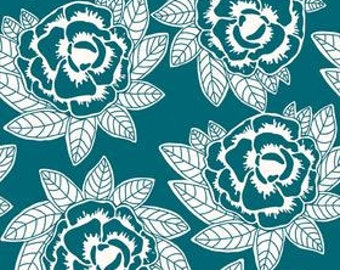 Indie Chic in Blue  by My Minds Eye for Riley Blake Fabrics 1 Yard Cut
