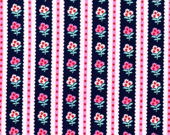 Striped Garden Navy from Cynthia Rowley 1 Yard Cut