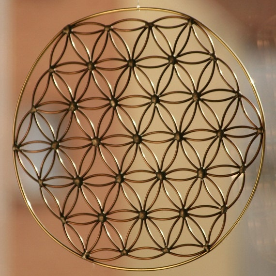 Flower Of Life Handmade Brass Copper And Tin Wall Hanging