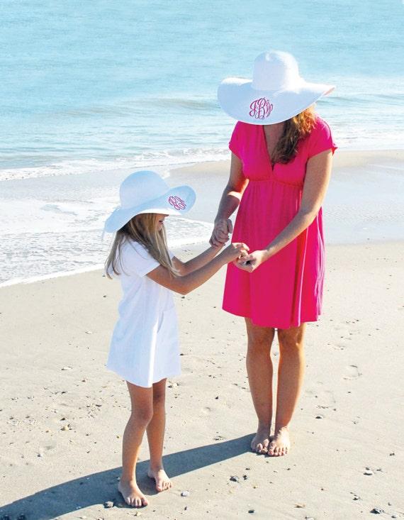 Monogrammed Floppy Hats, Wide Brimmed Hat, Gardening Hat, Beach Hat