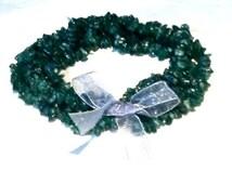 Healing Gemstone Bracelets With Ribbon Hematite Malachite Amethyst Green Silver Purple Handmade Jewelry