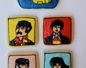 English Pop Band / Pop Art Sugar Cookies with Buttercream Frosting.
