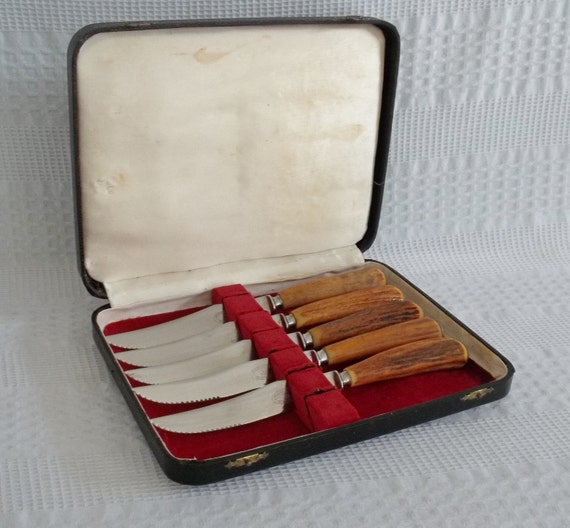Vintage Atkinson Bros Sheffield England Steak Knife Set