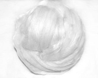 NEW Merino Wool 15.5 mic. and Mulberry Silk 50/50 Mix Blend Luxury Blend Extra Fine Undyed Australian Merino Silk Mix 50 g