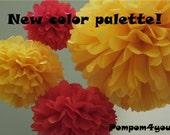 10 Tissue Pom Pom mix - any colors