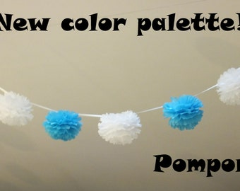120 SMALL Tissue Paper Pom Poms Garland