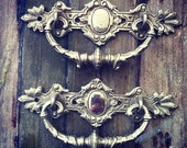 vintage antique french door drawer pulls