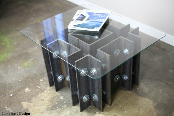 Industrial Coffee Table End Table Modern Design Mid