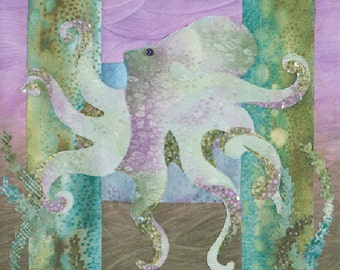 "McKenna Ryan ""Sea Breeze"" Twinkletoes (Block 9) Octopus Ocean, Quilting"