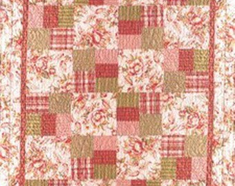 Just Can't Cut It Quilt Pattern Large Scale Fabrics DIY Quilting includes instructions for 7 sizes