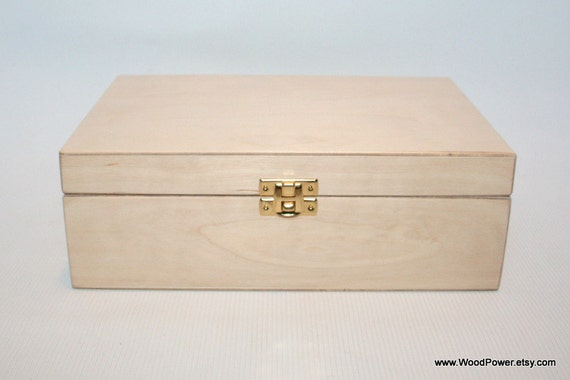 Wooden Box For Diy Projects Unfinished Wooden Box 8 46 X