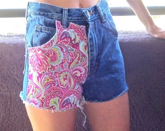 Fabricated and Glittered Womens Jean Shorts Size Small