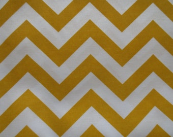 Outdoor Pillow Cover / Yellow Pillow Cover / Yellow Zig Zag Chevron Print