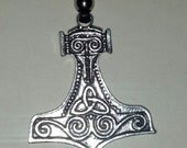 Fine Pewter Thors Hammer Necklace