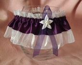 EGGPLANT - Wedding Garter Belt - Tossing Garter - Dark Purple - One Size & Plus Size