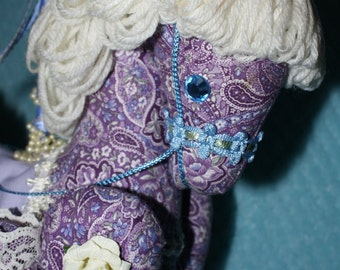 Tea Time Purple Paisley Carousel Horse