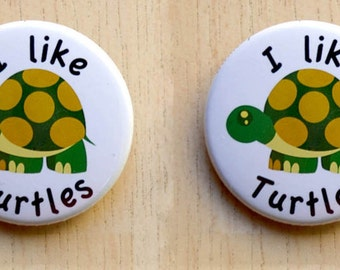 Turtle Magnet - 2 magnets -1.5 inch