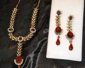 This heavy well made jewelry has the look and quality of priceless Victorian antiques